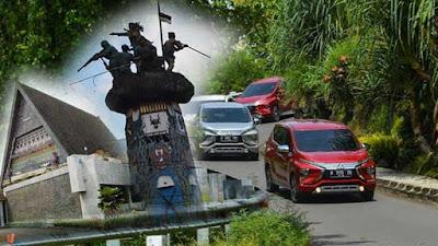 spot foto wisata keluarga naik mobil