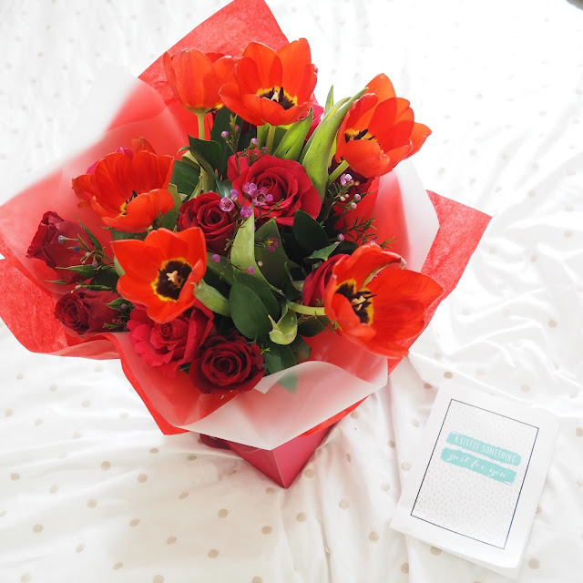 next valentine's day flowers and card