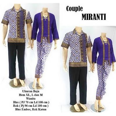 Batik Pasangan Couple Sarimbit Miranti Ungu