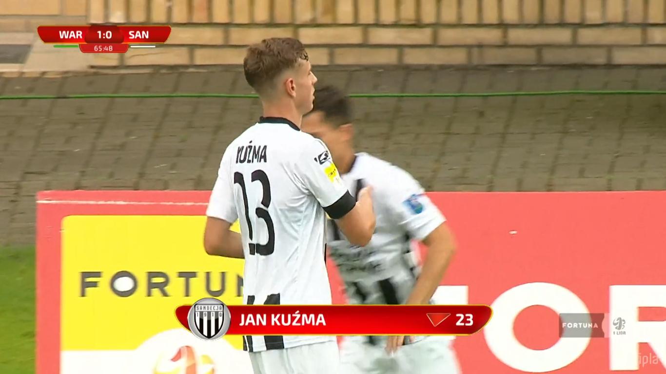 27. kolejka: Warta Poznań - Sandecja Nowy Sącz 2:0<br><br>fot. Polsat Sport / IPLA