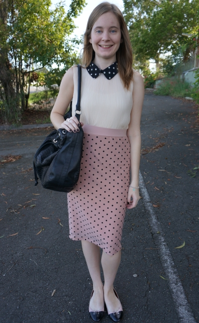 947a1fc88309 Skirt  Cotton On  Mica  mesh spot skirt in dusty pink. Shoes  Marc by Marc  Jacobs Logo Plaque Flats in Two ...