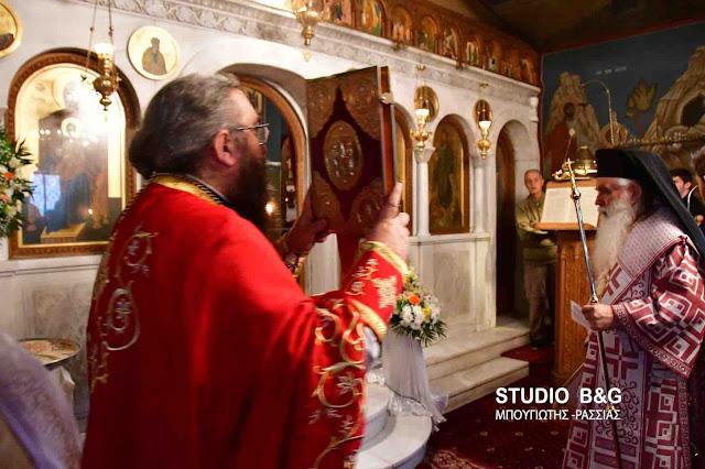 Θεία Λειτουργία στο Ναύπλιο από τον Μητροπολίτη Αργολίδας Νεκτάριο για την εορτή της Αγίας Φωτεινής