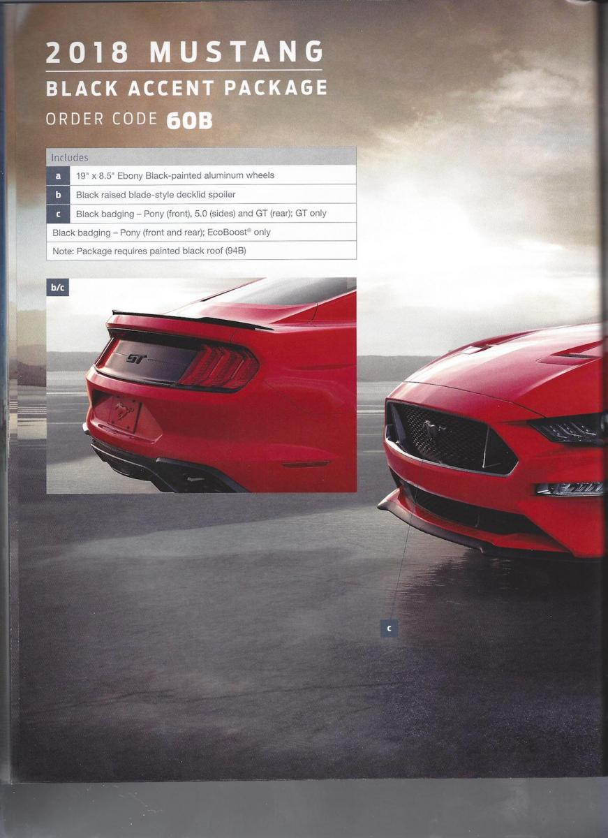 2018 Ford Mustang Order Guide Leaked Just Don T Opt For