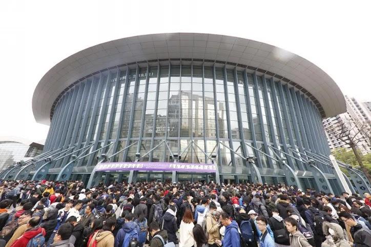 Kondisi Taipei Arena yang dipadati ribuan penonton