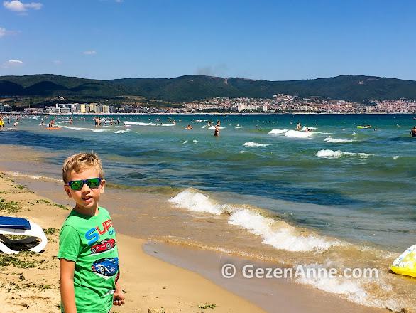 Bulgaristan'da Karadeniz kıyısında, Sunny Beach