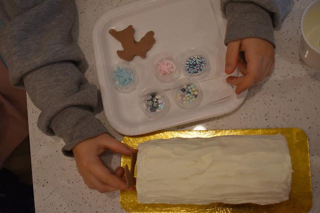 oceanesfamily, décoration de bûche, Noël, petit lapin