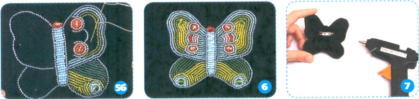 Бабочка из бисера. Butterfly Bead