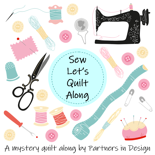 Sew Let's Quilt Along - a sewing and quilting themed quilt along
