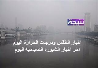 اخر اخبار الشبوره الصباحية اليوم الاثنين 4-12-2017 اخبار الطقس ودرجات الحرارة اليوم