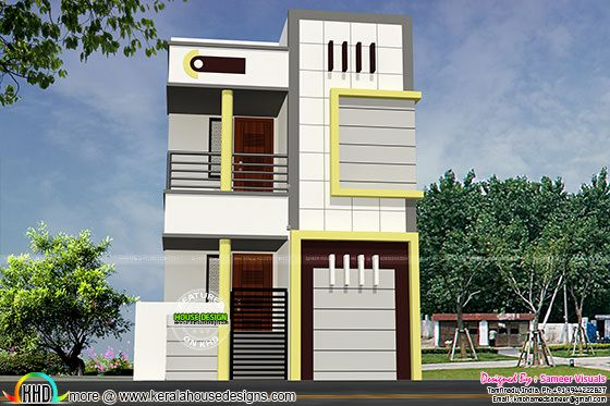 16 feet width house plan architecture
