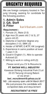 PT. Batam Well Industry