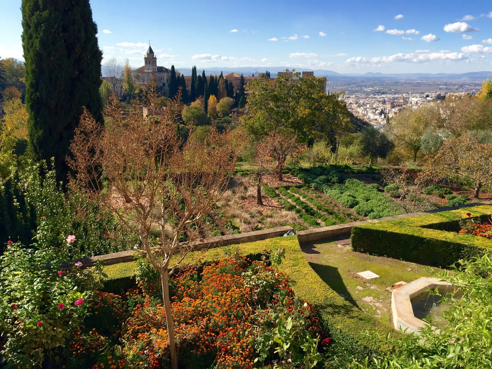 Art of the garden generalife gardens at the alhambra for Generalife gardens