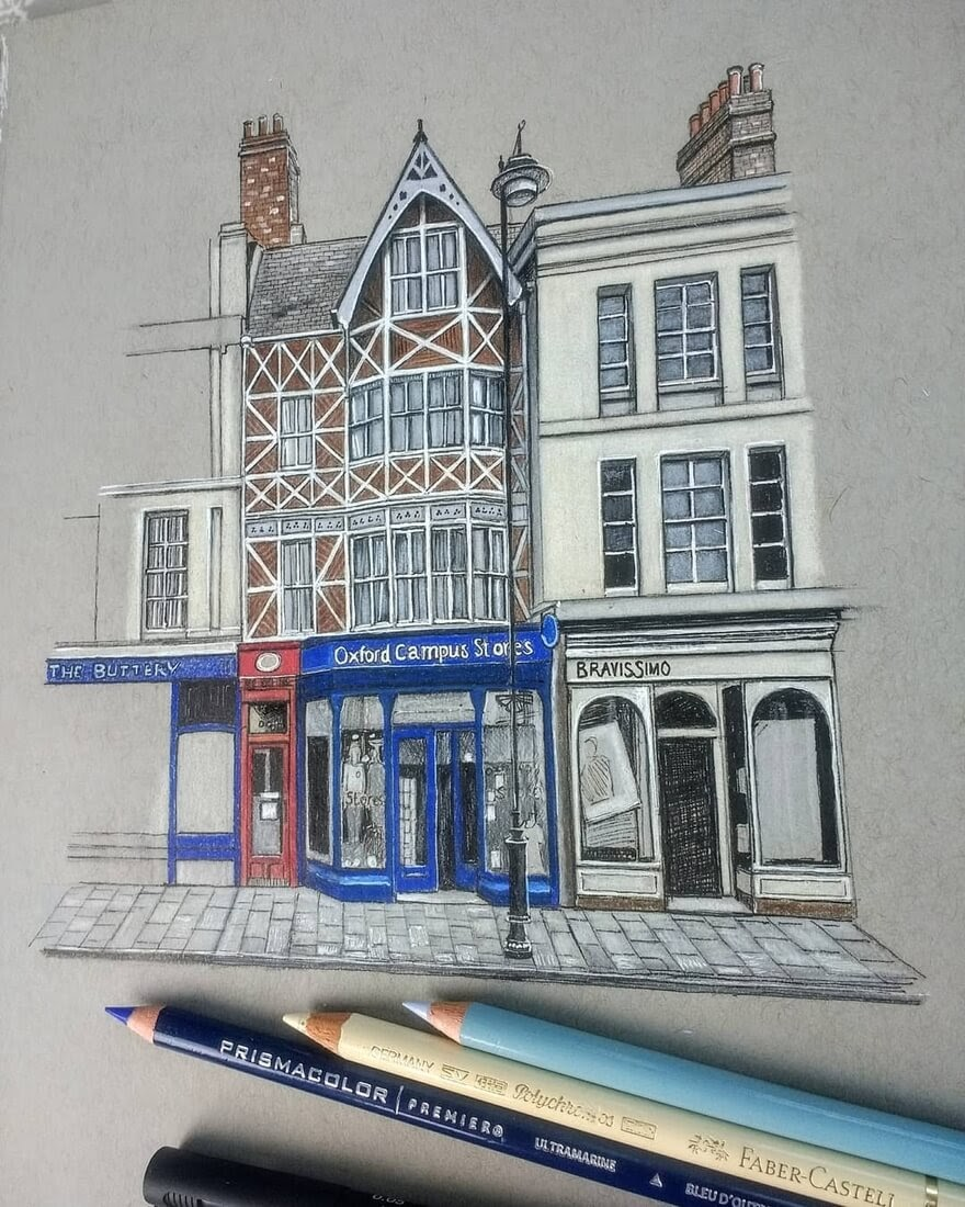12-Row-of-shops-Demi-Lang-Architectural-Drawings-of-Interesting-Buildings-www-designstack-co