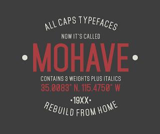 Mohave Free Font Terbaik Untuk Desain Pakaian Distro