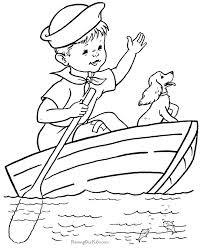 Imagini De Colorat Cu Barci Pentru Copii Fise De Lucru