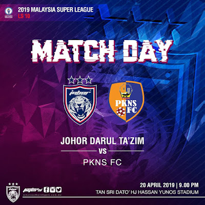 Live Streaming JDT vs Pkns FC Liga Super 20.4.2019