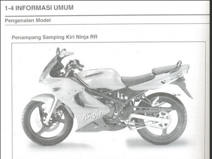 Manual Book Service Kawasaki Ninja Rr 150