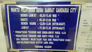 Bayar Perpanjang Pajak STNK Motor Mobil Gerai Samsat Gandaria City 2016