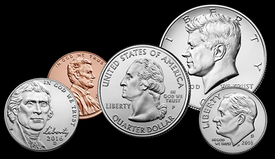 U.S. Mint: U.S. Coins in Circulation - Source: https://www.usmint.gov/learn/coin-and-medal-programs/circulating-coins