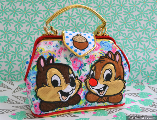 irregular choice mickey & friends chip n dale floral handbag