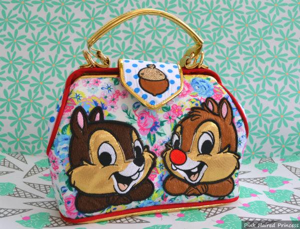 irregular choice mickey & friends chip n dale floral handbag