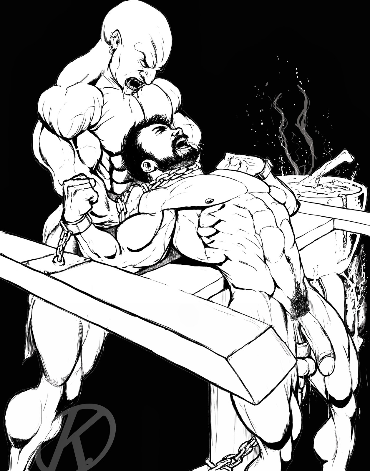 Art gay bdsm Painful Gay