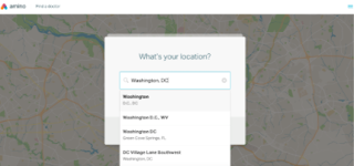 Screenshot showing a physician/provider locator.