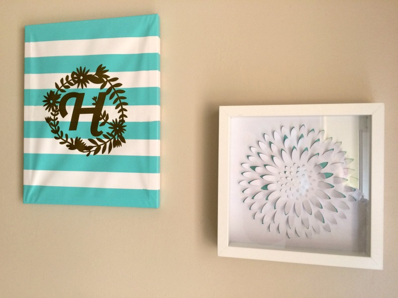 Popular Make an easy monogrammed canvas wall art using your Cricut Explore