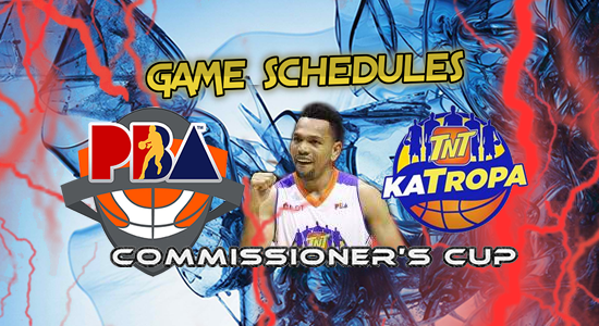 List of TNT Katropa Game Schedules 2017 PBA Commissioner's Cup