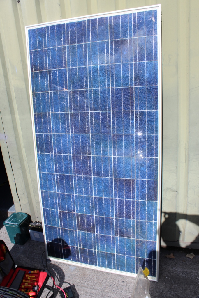 Solar Panel Van Next The Sea