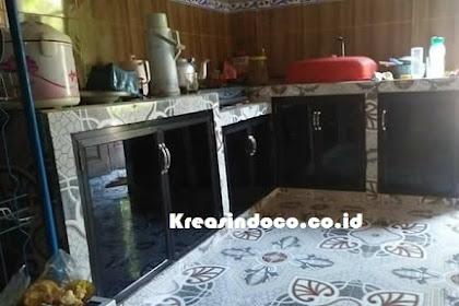 Kitchen Set Rangka Aluminium Kombinasi Kaca