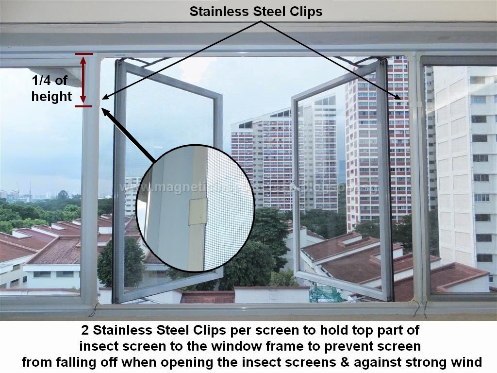 Diy Mosquito Net For Windows Diy Magnetic Insect Screen Singapore Insect Screen