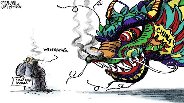 Resultado de imagem para china vs eua :guerra de tarifas