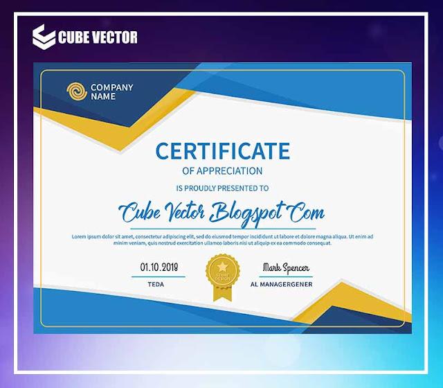 Download Desain Sertifikat Penghargaan Format CDR Gratis - Cube Vector