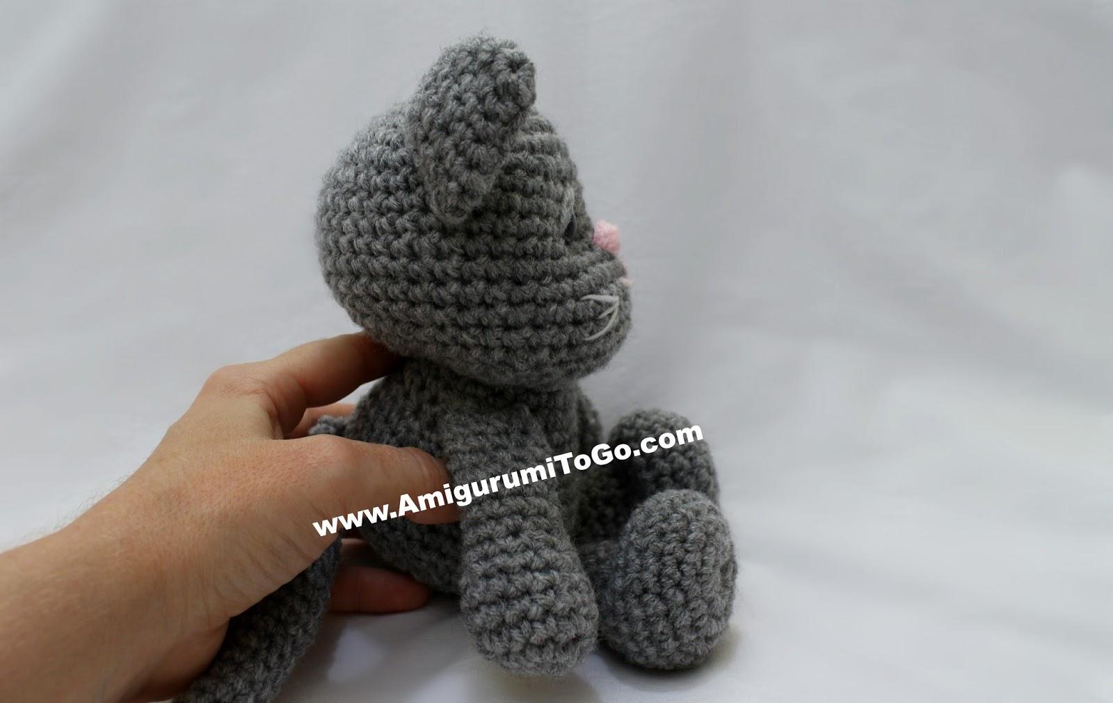 Amigurumi Cat Crochet Pattern Easy Video Tutorial | 1011x1600