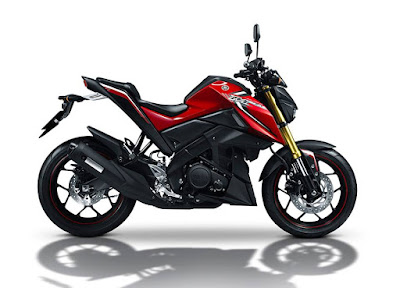 Yamaha M-SLAZ 150 front red color side look image