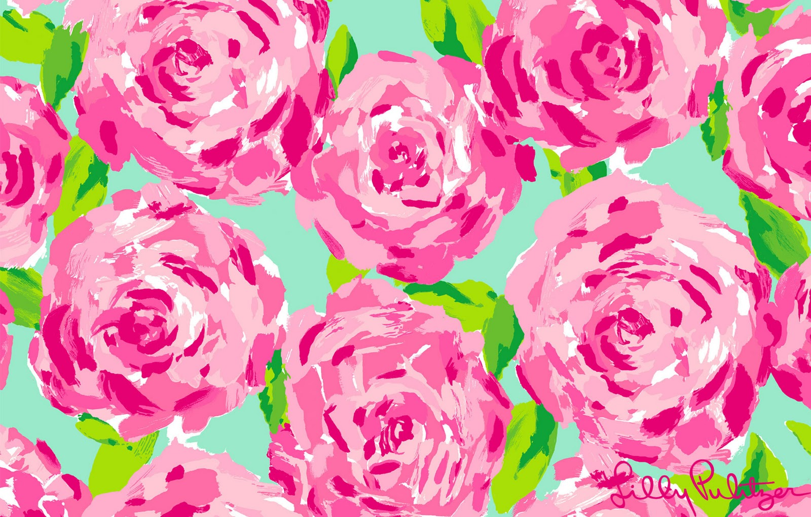 Lilly Pulitzer First Impression Desktop Background 1600 x 1021