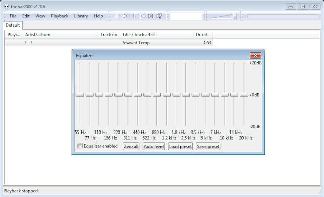 Cara menggunakan Equalizers Foobar2000 2