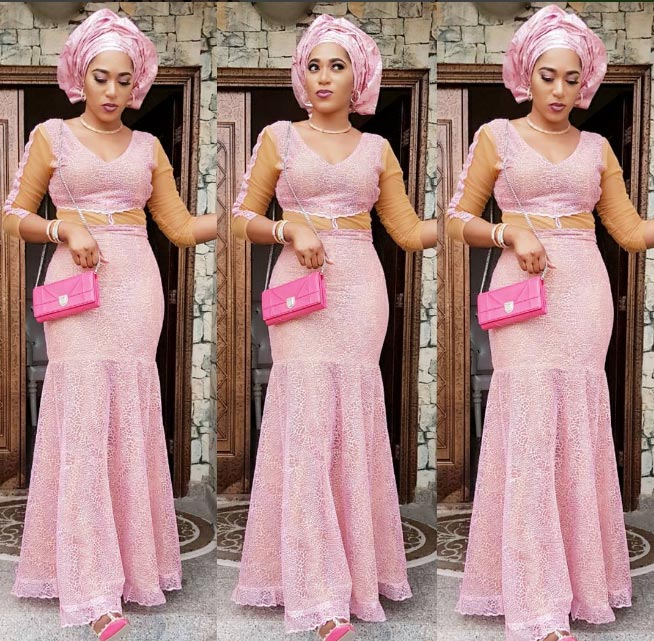 Pretty lady: Rukky Sanda steps out in flawless pink outfit