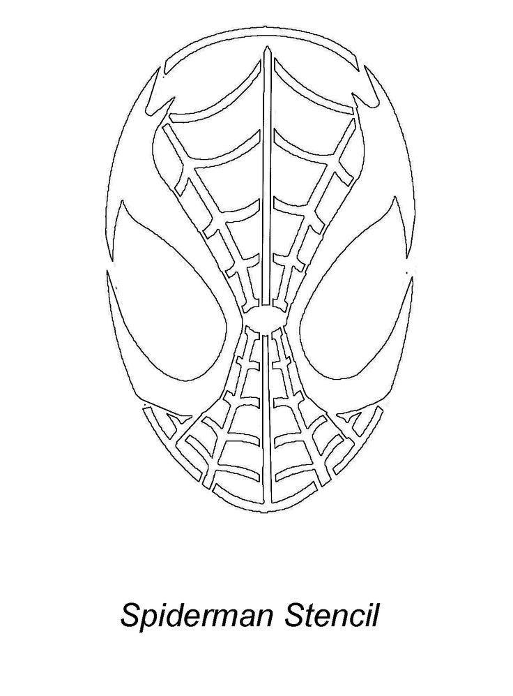 Download Free Printable spiderman pumpkin stencil Designs ...