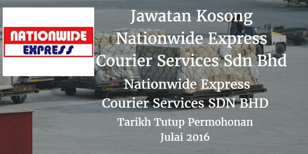 Jawatan Kosong NATIONWIDE EXPRESS COURIER SERVICES SDN BHD Julai 2016