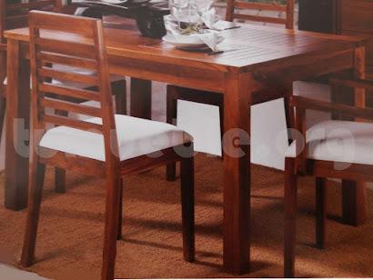 mesa comedor con tapa rejilla hecho en teca 4191