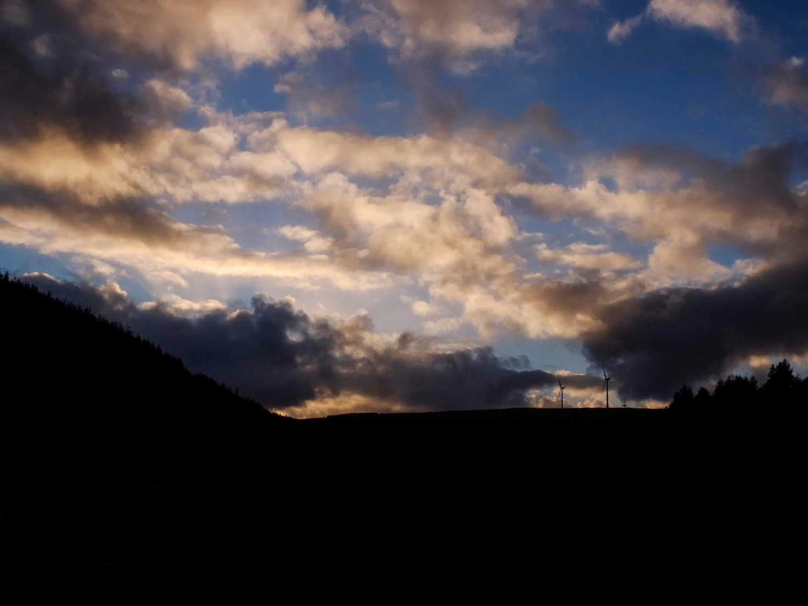 Sunset clouds in a valley in North County Cork.