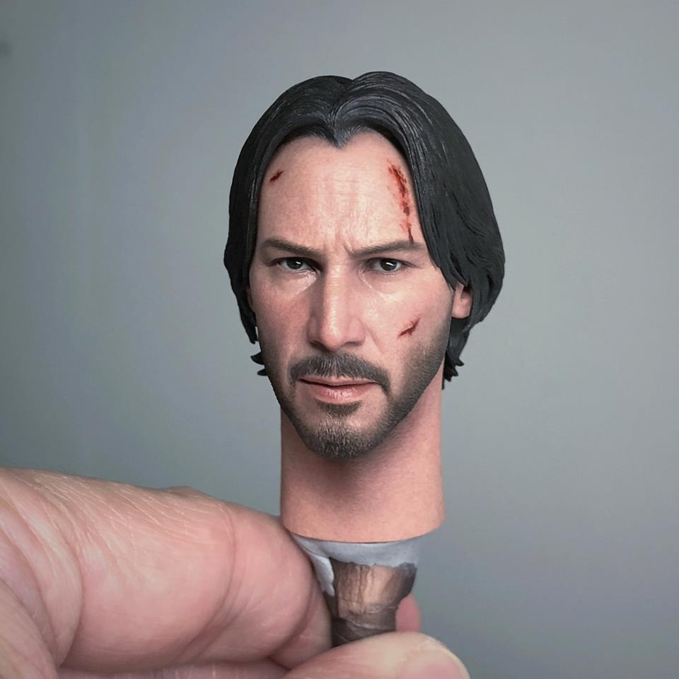 1//6 Scale DMSW Male Head Sculpt Head Carving For 12/'/' Movie Action Figure Toys