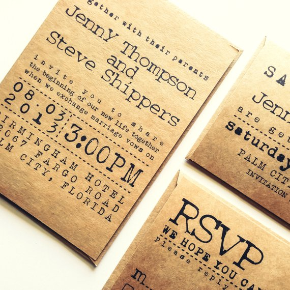 Diseño de invitaciones Bodas Rusticas y originales
