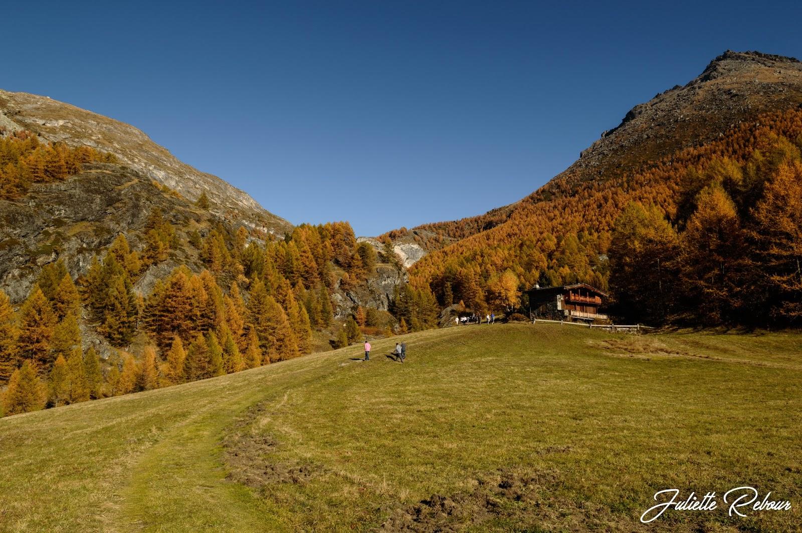 Randonnée au Monal en automne, Sainte-Foy-Tarentaise