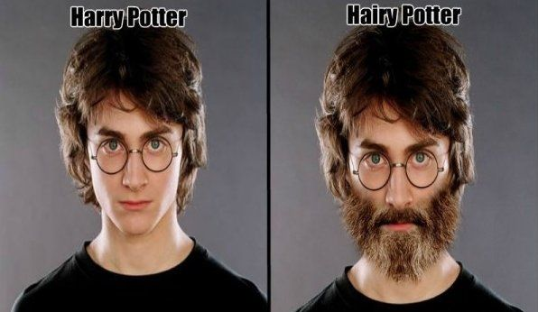 Harry potter with beard
