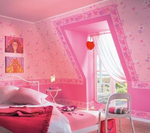 dormitorio rosa de niña