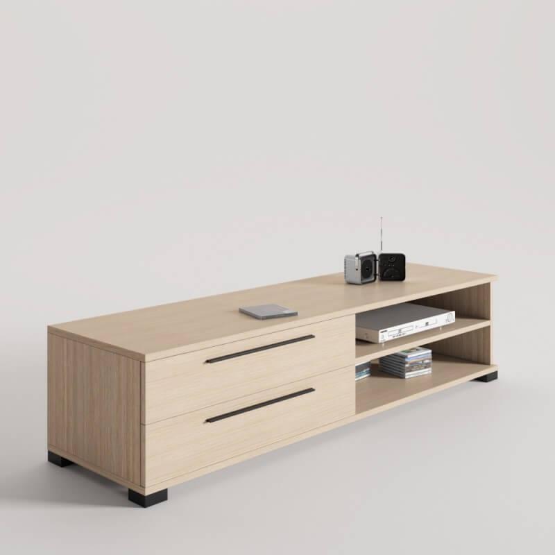 Diseño Mueble TV Con 2 Cajones Ideal Para Televisores Con Base o ...