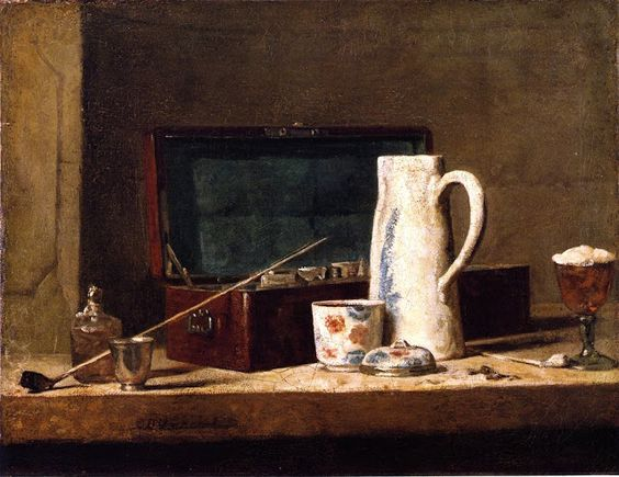Magnificent still life painting by Jean Baptiste Simeon Chardin